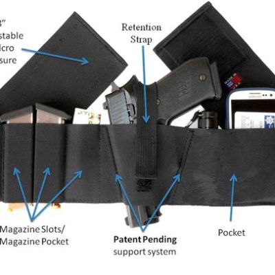 Belly Band Concealed Carry Gun Holster